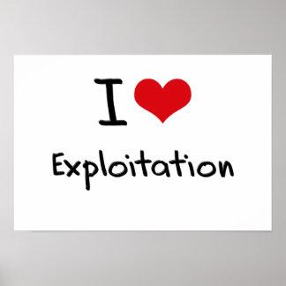 I love Exploitation Poster