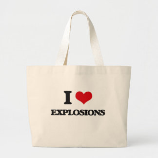 I love EXPLOSIONS Canvas Bags