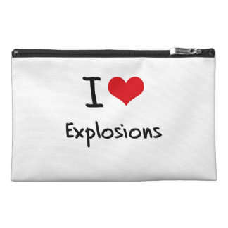 I love Explosions Travel Accessories Bag