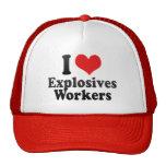 I Love Explosives Workers Trucker Hat