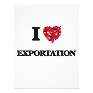 I love Exportation 21.5 Cm X 28 Cm Flyer