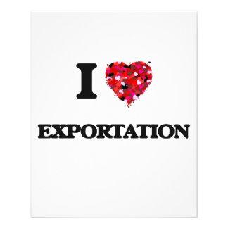 I love Exportation 11.5 Cm X 14 Cm Flyer