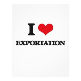 I love EXPORTATION Full Color Flyer