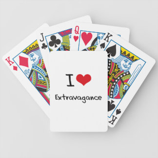 I love Extravagance Bicycle Playing Cards