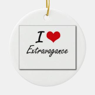 I love extravagance round ceramic decoration
