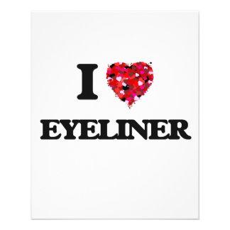I love Eyeliner 11.5 Cm X 14 Cm Flyer