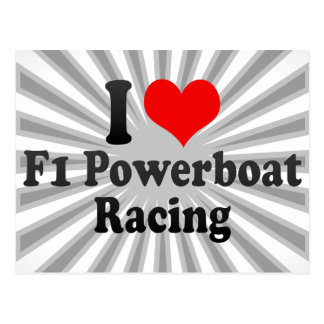 I love F1 Powerboat Racing Postcard