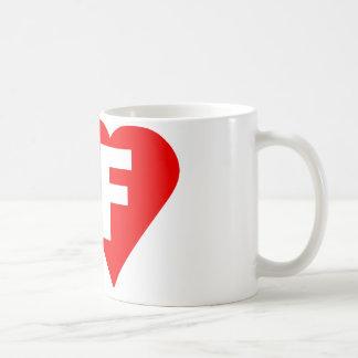 I-LOVE-F. BASIC WHITE MUG