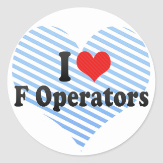 I Love F Operators Stickers
