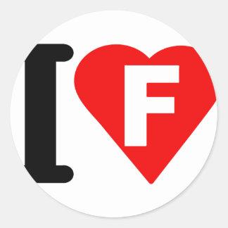 I-LOVE-F STICKERS