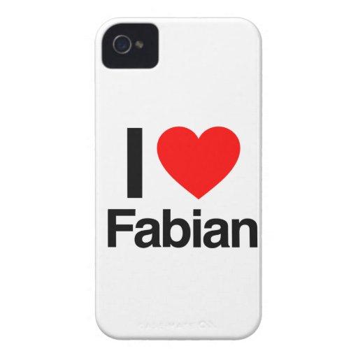i love fabian Case-Mate iPhone 4 cases