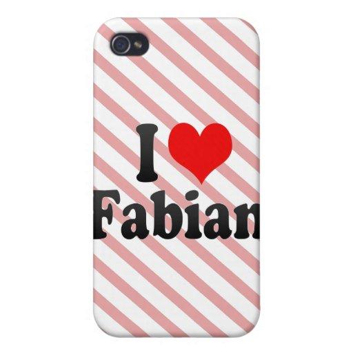 I love Fabian iPhone 4/4S Cover