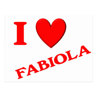 I Love Fabiola Post Card