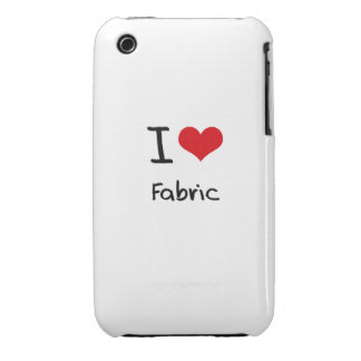 I Love Fabric Case-Mate iPhone 3 Cases