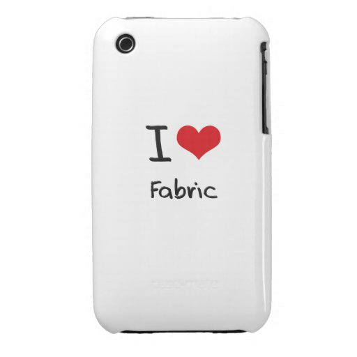 I Love Fabric Case-Mate iPhone 3 Cases