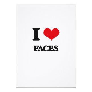 """I love Faces 5"""" X 7"""" Invitation Card"""