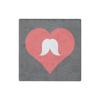I Love Facial Hair Cool Icon Stone Magnet