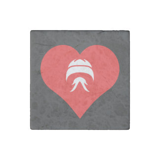 I Love Facial Hair Cool Symbol Stone Magnet