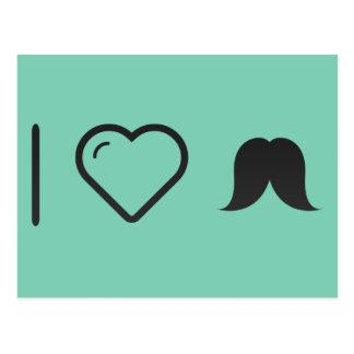 I Love Facial Hair Postcard