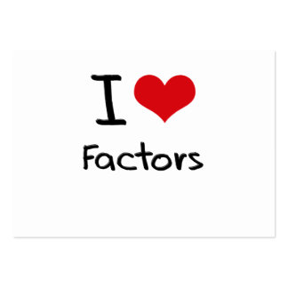 I Love Factors Large Business Cards (Pack Of 100)