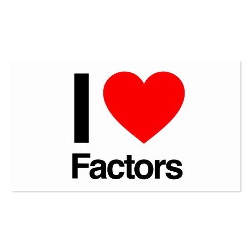 i love factors business cards