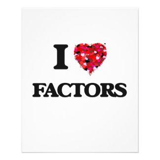 I Love Factors 11.5 Cm X 14 Cm Flyer