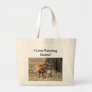 I Love Fainting Goats - Jumbo Tote