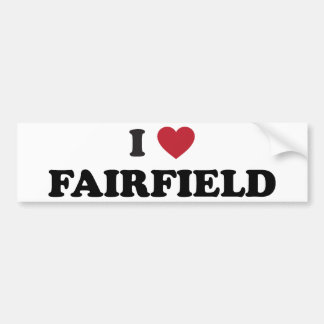 I Love Fairfield California Bumper Sticker