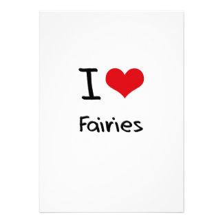 I Love Fairies Custom Invitations