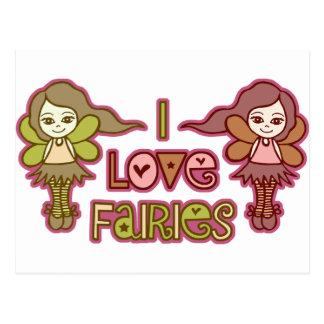 I Love Fairies Post Cards