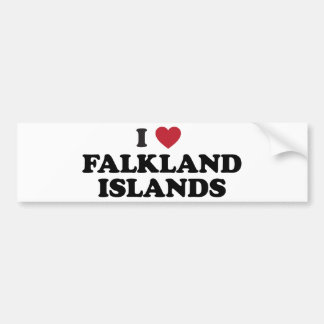 I Love Falkland Islands Bumper Stickers