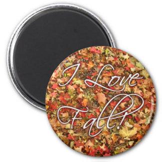 """""""I Love Fall"""" Leaves Magnet"""