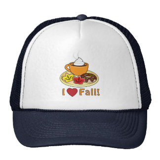 I Love Fall with Coffee and Cookies Cap
