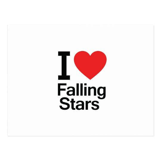 I Love Falling Stars Postcard