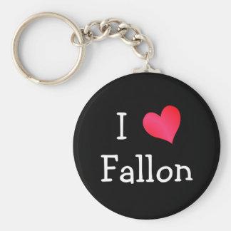 I Love Fallon Key Ring