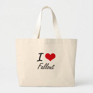 I love Fallout Jumbo Tote Bag