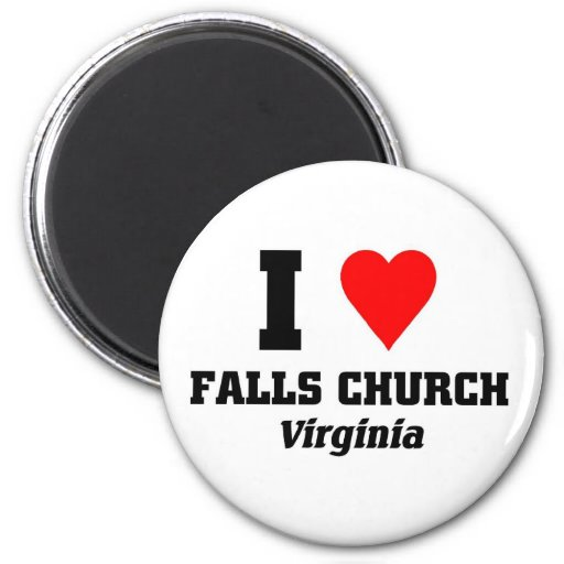 I love Falls Church, Virigina Fridge Magnets