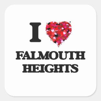I love Falmouth Heights Massachusetts Square Sticker