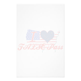 I Love FALSE+Pass, Alaska Stationery