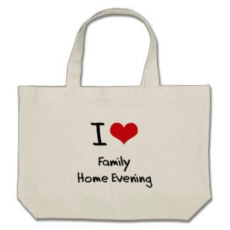 I Love Family Home Evening Canvas Bag