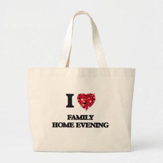 I Love Family Home Evening Jumbo Tote Bag
