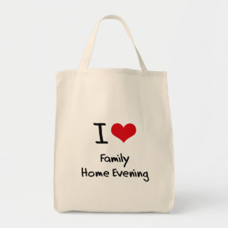 I Love Family Home Evening Grocery Tote Bag