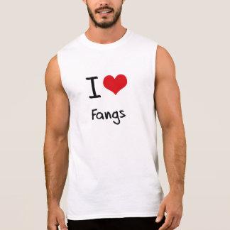 I Love Fangs Sleeveless T-shirt