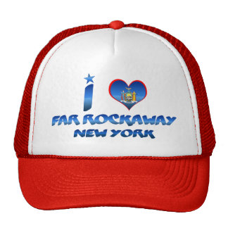 I love Far Rockaway, New York Mesh Hat