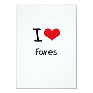 I Love Fares 13 Cm X 18 Cm Invitation Card