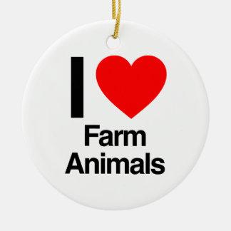 i love farm animals christmas ornament
