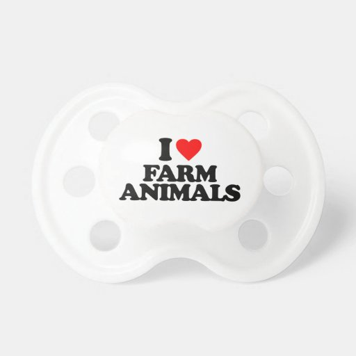 I LOVE FARM ANIMALS BABY PACIFIER