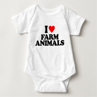 I LOVE FARM ANIMALS T SHIRT