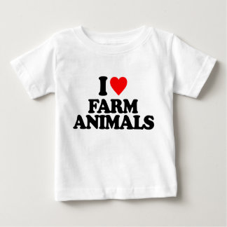 I LOVE FARM ANIMALS T SHIRTS