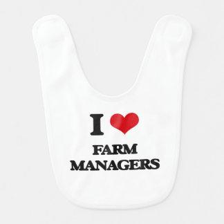 I love Farm Managers Baby Bibs